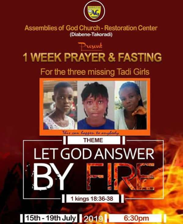 Takoradi Kidnapped Girls: Assemblies Of God Holds 7-day Fast