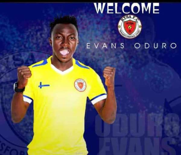 Official: Evans Oduro Completes move to Kabwe Youth Soccer Academy In Zambia