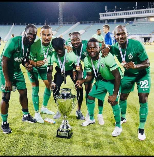 Ghanaian duo Bernard Tekpetey and Elvis Manu wins Bulgaria Super Cup with Ludogorets