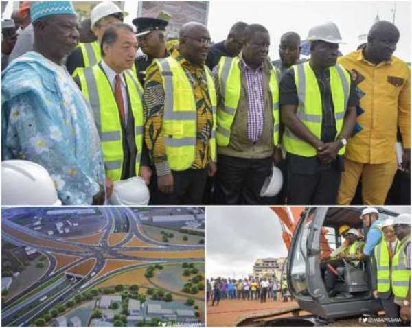 Bawumia Cuts Sod For Tema Motorway Roundabout Project