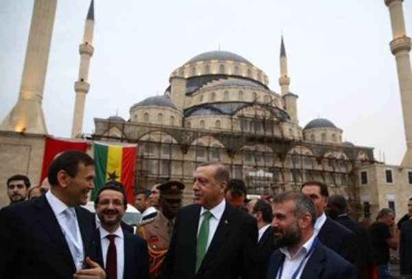 Flashback: 2016: Turkish President at new mosque in Accra