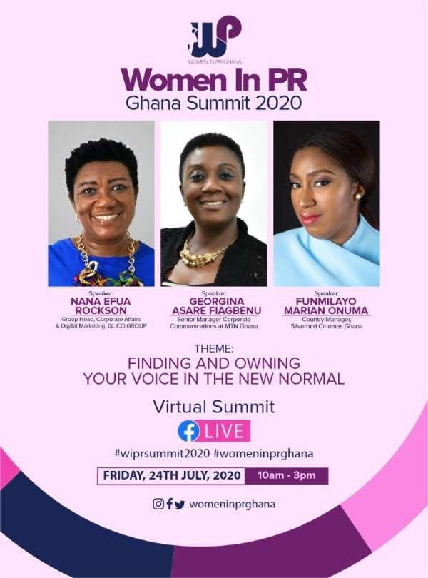 4th Women In PR Ghana Annual Summit Goes Virtual On July 24th