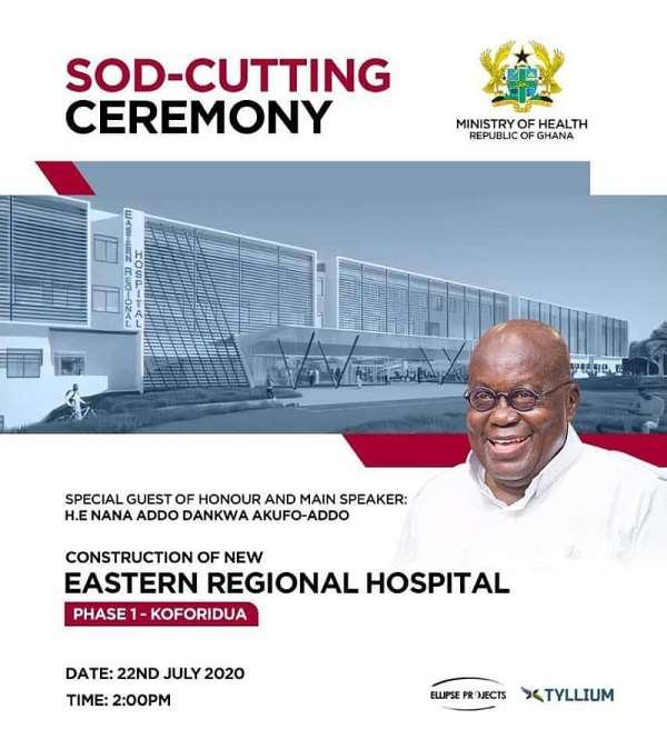 Akufo-Addo Cuts Sod For New Regional Hospital In Eastern Region