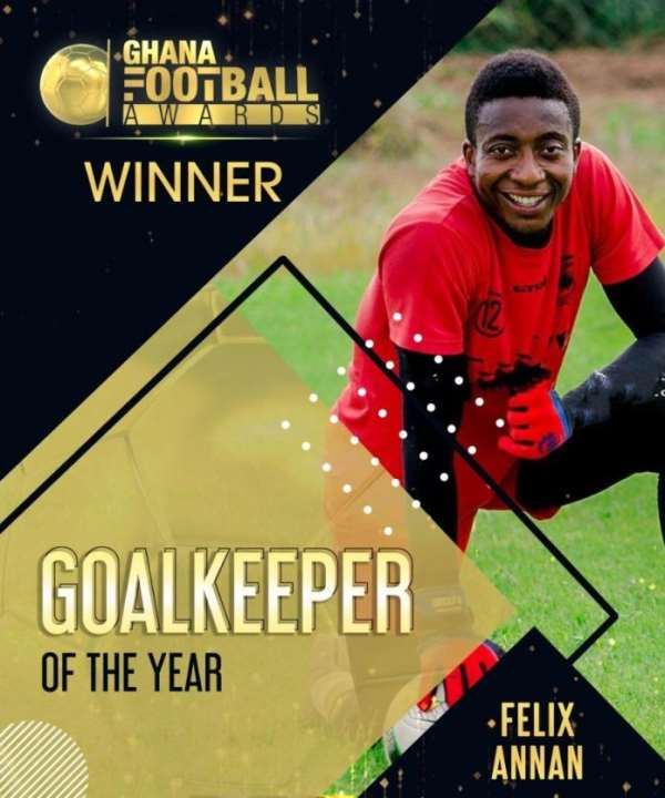 Ghana Football Awards: Felix Annan Picks Up Goalkeeper Of The Year Awards