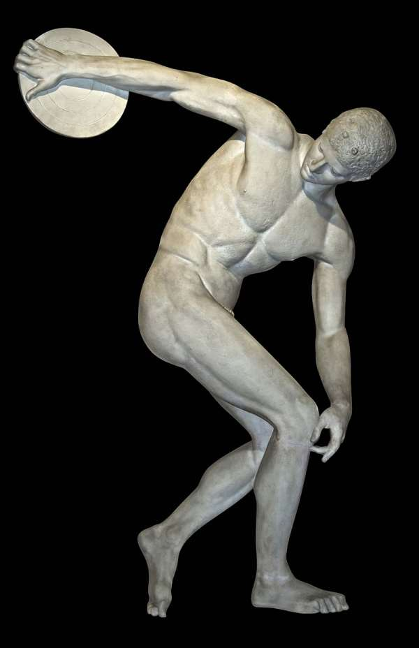 The most iconic Olympics image is that of the naked discus thrower