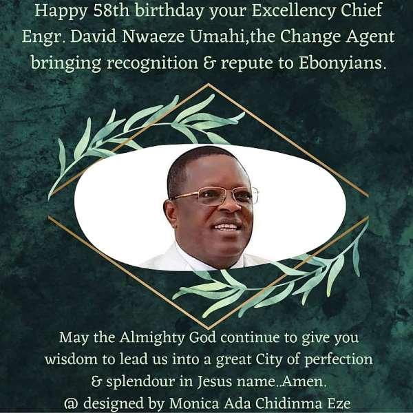 Umahi @ 58: Celebration of an Icon, Unblemished Democrat and Architect of the Modern Ebonyi State
