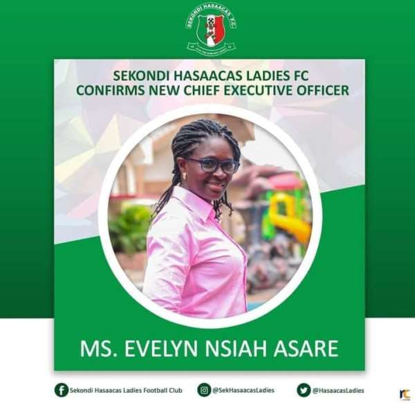 Evelyn Nsiah Asare Confirmed As NEW CEO For Hasaacas Ladies FC