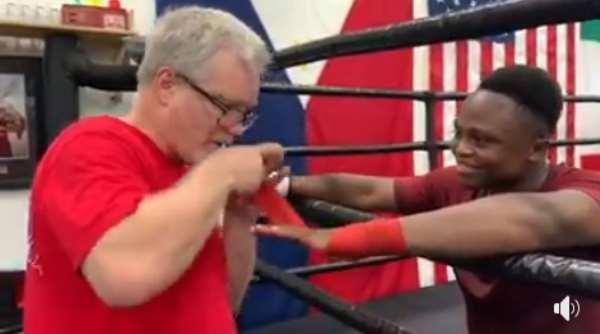 Isaac Dogboe Returns To Training Under Freddy Roach