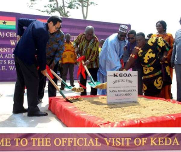 Akufo-Addo Commends Chinese Factory KEDA Ceramics