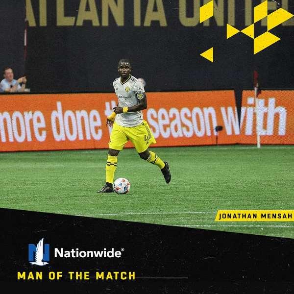MLS: Jonathan Mensah clinches Man of The Match Award as Columbus Crew beat Atlanta