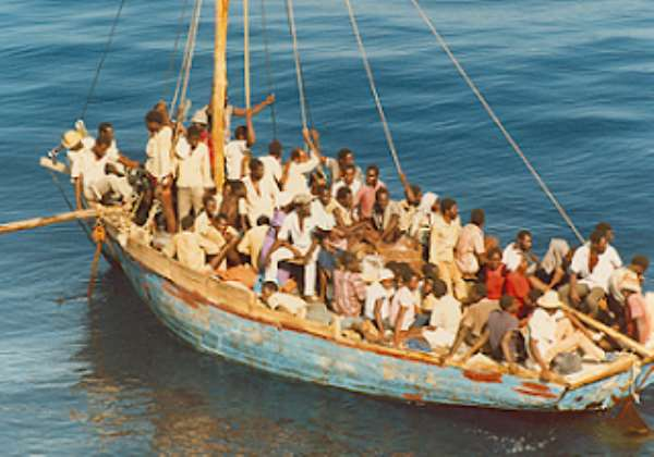 Haitians (Boat-people) on US coast in search of greener pastures which resulted in deliberate infection of diseases at camps