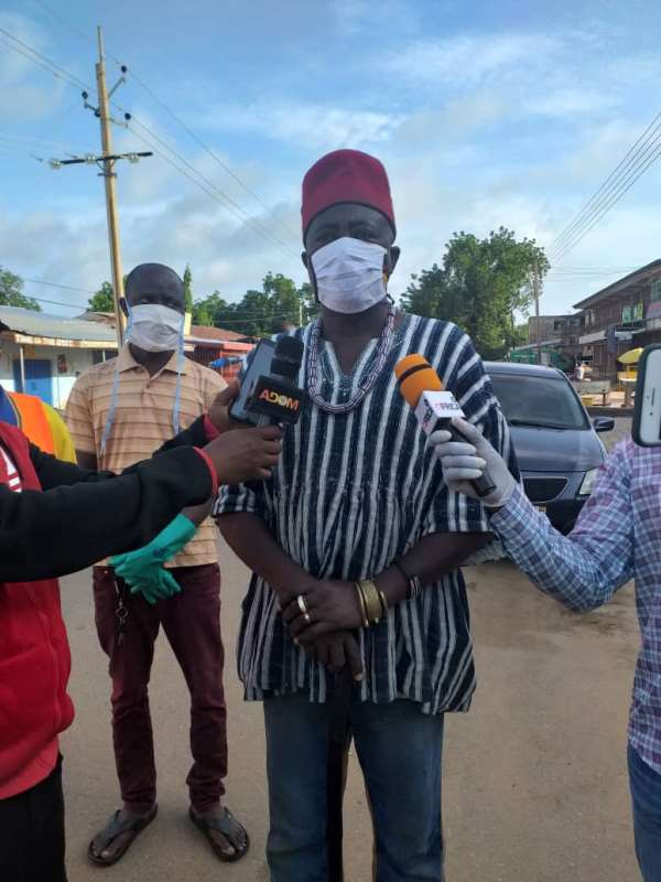 Navrongo Paramount Chief Joins 2nd Phase Of Disinfection And Clean-Up Exercise