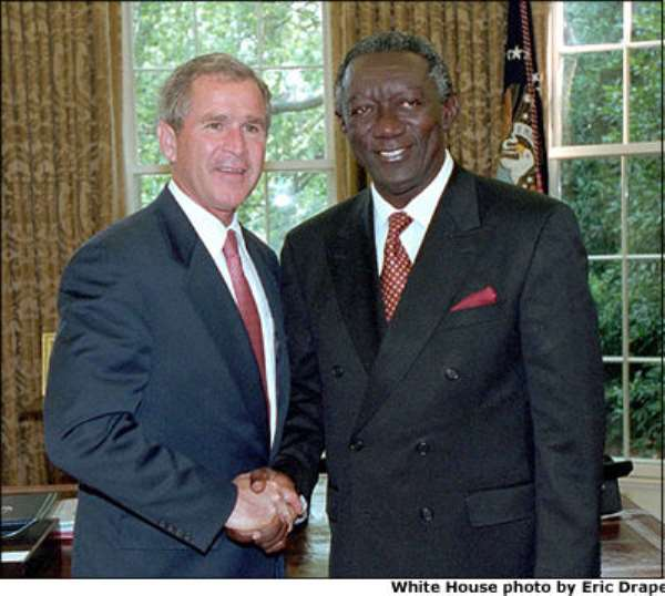 Kufuor congratulates Bush on his re-election