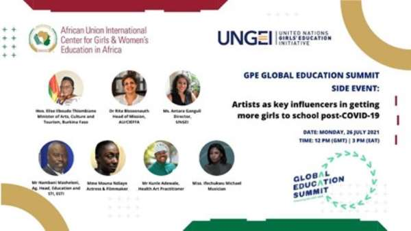 AU/CIEFFA & UNGEI Host Joint Side Event At Global Education Summit To Promote Girls' Reintergration To School Through Arts & Culture