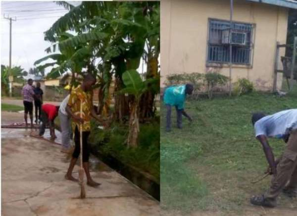 GES Staff Embarks On Clean-up Exercise