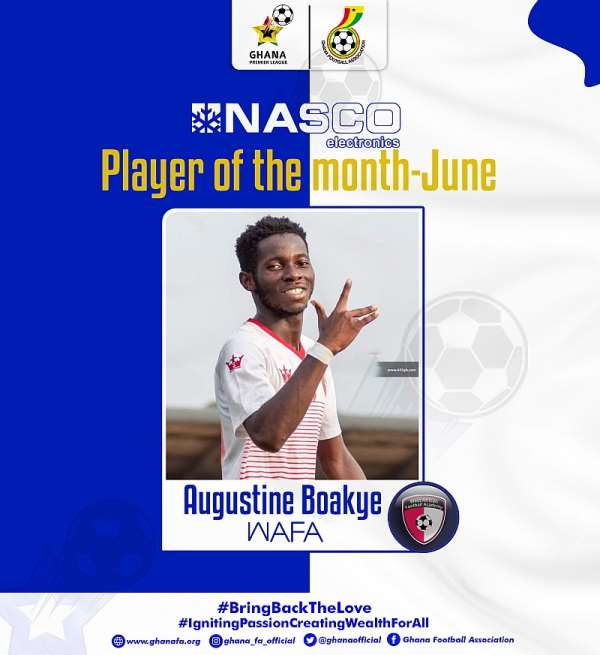 WAFA's Augustine Boakye named GPL player of the month in June