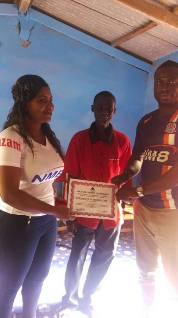 Ex-Ghanaian Footballer And Agent Donates To Orphans At Good Shepherd Orphanage Home