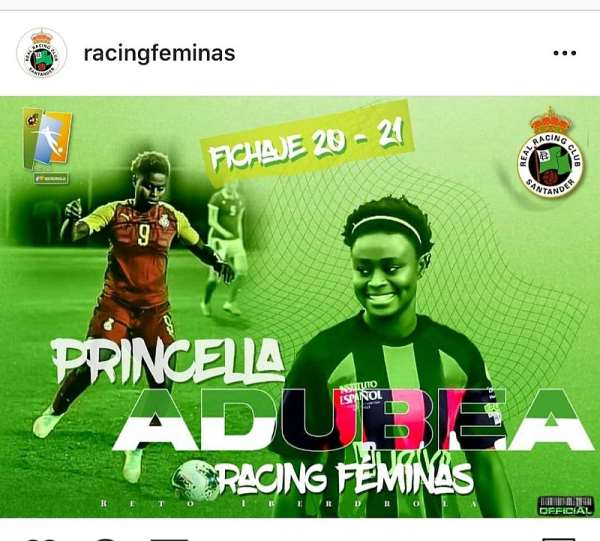 Princella Adubea Overwhelmed With Joy After Joining Racing Femenino
