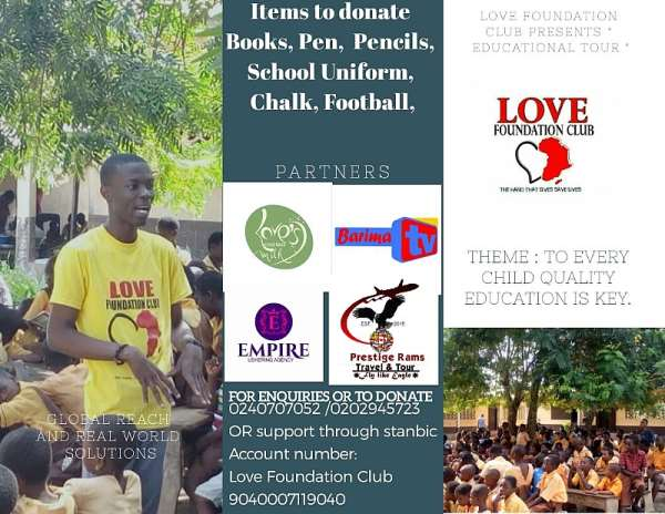 Love Foundation Club To Embark On A Nationwide Educational Support Tour