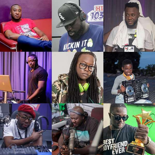 Who are the 12 'Most Wanted' DJs in Ghana?