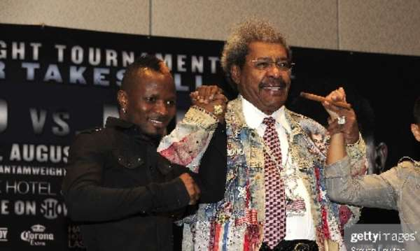 CAPTION: Don King (right) managed Joseph Agbeko during his heyday in the sport