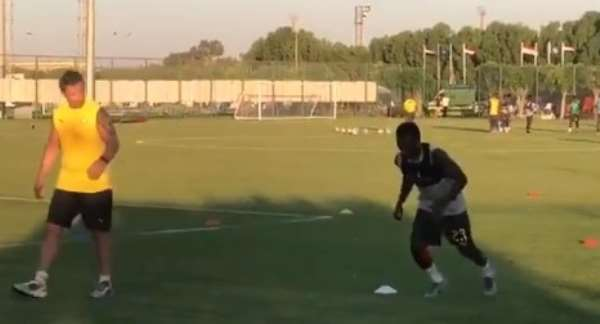 VIDEO: Black Stars Winger Thomas Agyepong Trains Solo After Recovering From Injury