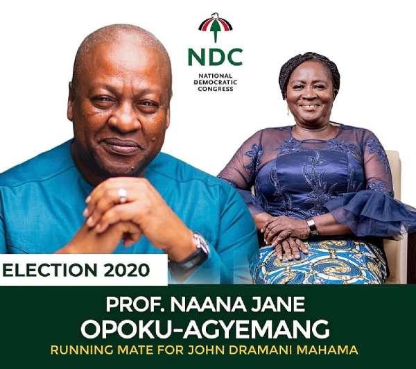 Running Mate: NDC Proforum Congratulates Prof. Jane Naana Opoku-Agyemang