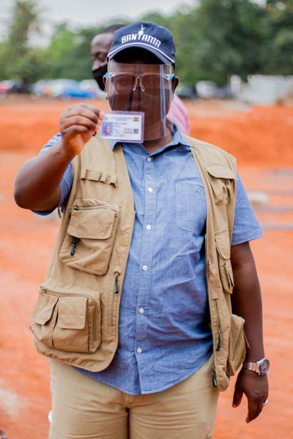 Asenso Boakye Secures His Voter ID Card As He Encourages Ghanaians To Register