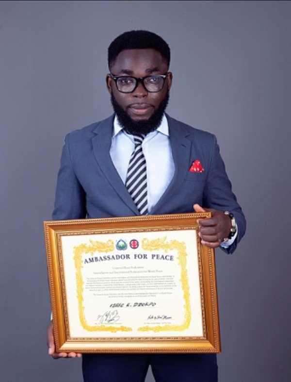 Ghanaian Journalist Receives International Award as Peace Ambassador