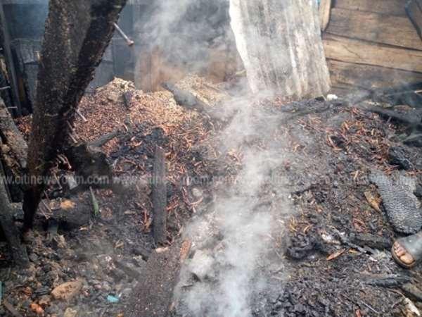 Kumasi Central Market On Flames