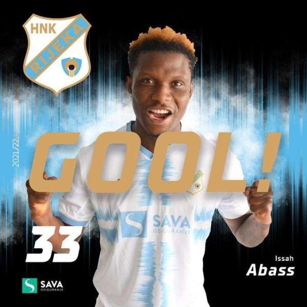 Ghana youngster Issah Abass bags brace to help Rijeka draw 3-3 away at Dinamo Zagreb
