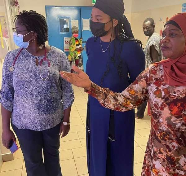 Founder Of Mama Mariam's Foundation Donates Fully Connected Polytank To Tamale Teaching Hospital