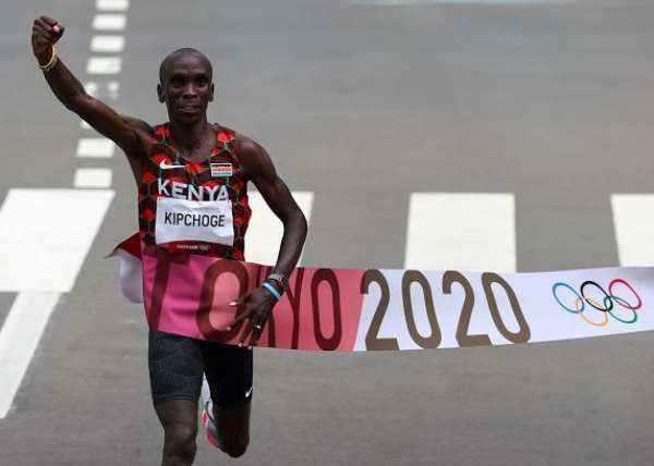 Kenya's Kipchoge Eliud, perhaps the greatest African athlete at the Tokyo 2020 Olympic Games