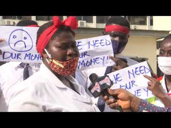 Hygiene Students Picket At Sanitation Ministry Over Unpaid Allowance
