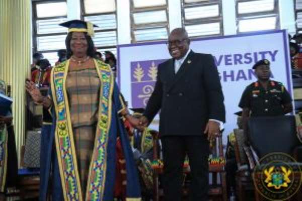 Mary Chinery-Hesse Inducted As First Woman Chancellor Of UG