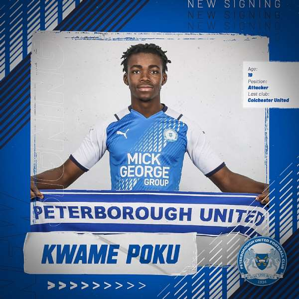 English outfit Peterborough United announce signing of Ghana midfielder Kwame Poku