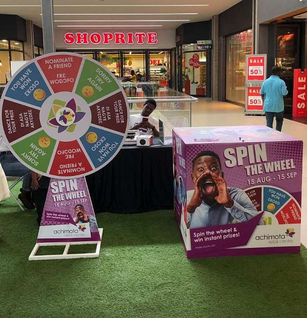 Wheel Of Freebies Is Spinning At Achimota Mall