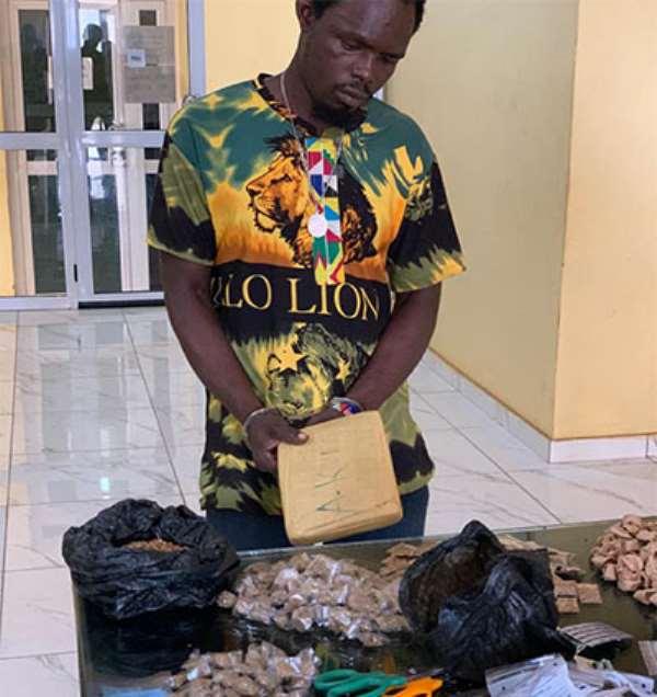 Suspect, Isaac Nkrumah, in police custody