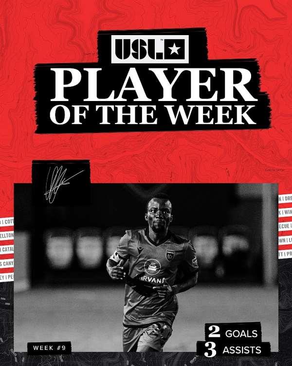 Phoenix Rising Hero Solomon Asante Named 'Player Of The Week' In USL Championship
