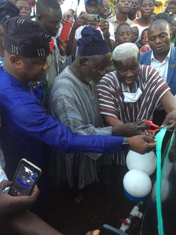 Farouk Aliu Mahama Commissions Mechanised Boreholes In Yendi