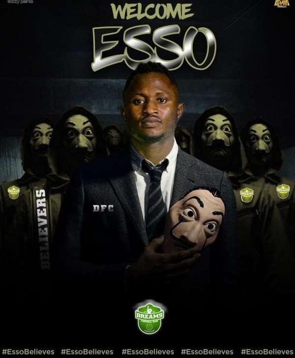 Joseph Esso Elated With Dreams FC Move