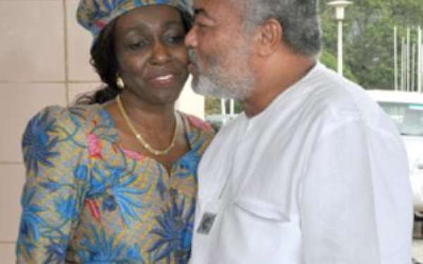 You Can Never Erode My Wife's Role In NDC – Rawlings To Ahwoi