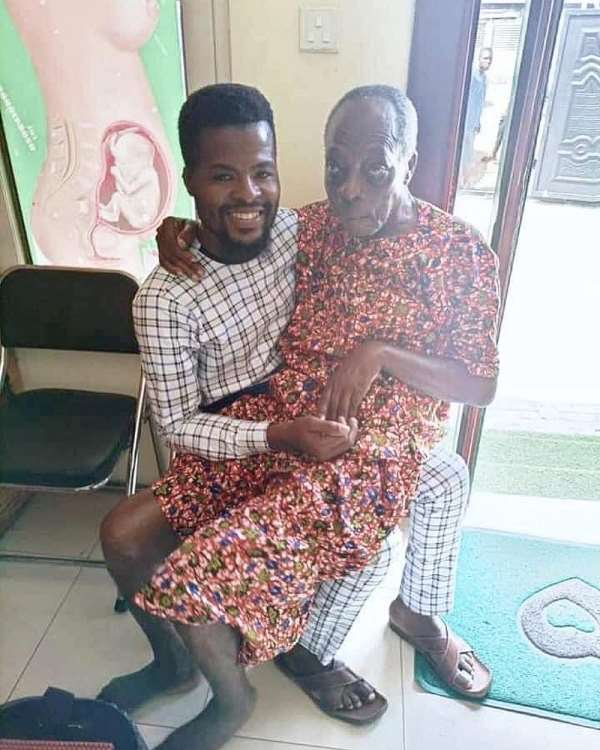Picture of ill veteran Ghanaian actor 'Kohwe' surfaces