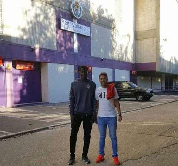 Director of the African Talent Football Academy, Fran Castaño and Mohammed Salisu