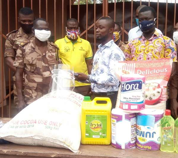 Asutifi North NDC Aspirant Supports Prisons Camp With Foodstuffs And PPEs