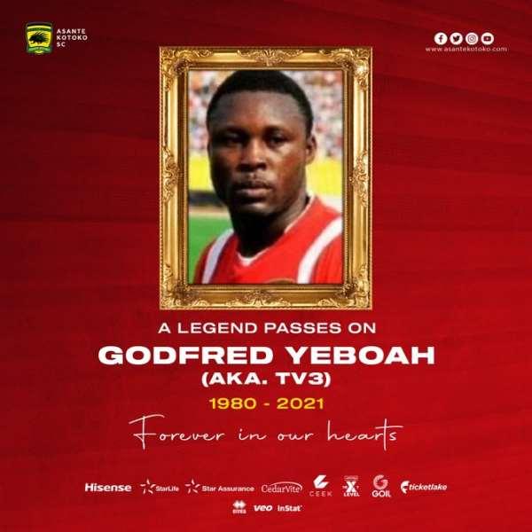 Asante Kotoko mourns legendary defender Godfred Yeboah