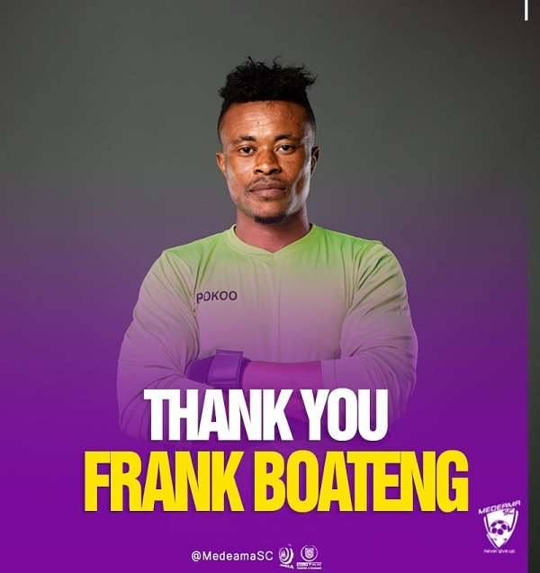 Medeama SC terminate contract of Frank Boateng after error in MTN FA Cup semi-final