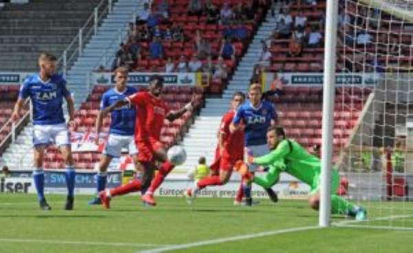 Kobby Arthur Scores Brace For Macclesfield Town In 3-2 Loss Against Swindon Town