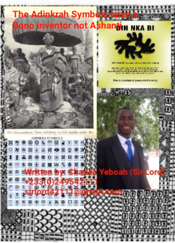The Adinkrah Symbols have a Bono inventor not Ashanti