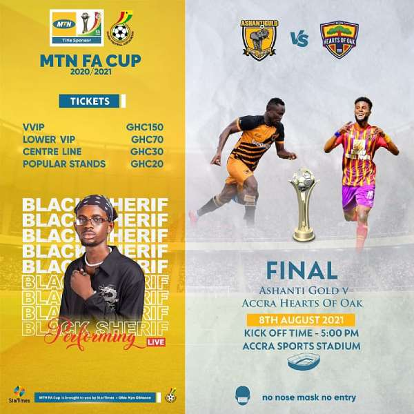 Hearts of Oak v Ashgold: Ticket prices for MTN FA Cup final match announced